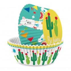 Caissettes Papier Cupcakes Lama 36 pcs 3 cm  - Scrapcooking