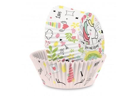 Caissettes Papier Cupcakes Licorne 36 pcs 3 cm  - Scrapcooking