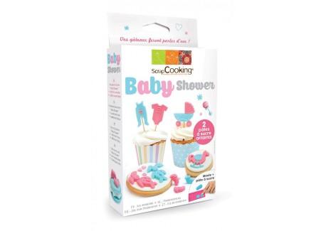 Kit Modellering Suikerpasta Baby Shower  - Scrapcooking