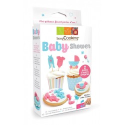 Kit Modelage Pâte à Sucre Baby Shower  - Scrapcooking