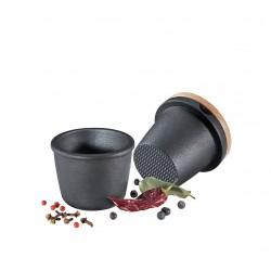 Mortier et pilon en Fonte Noir