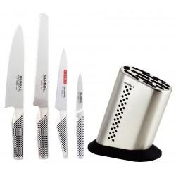 G836KB Set couteaux 4 pièces + Bloc  - Global