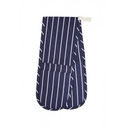 Blue Stripe Double Gant à Four  - KitchenCraft