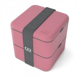 Square Bento LunchBox Rose Blush  - MonBento