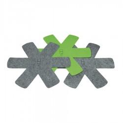 Panbeschermers Grijs en Groen 3 dlg - Point Virgule
