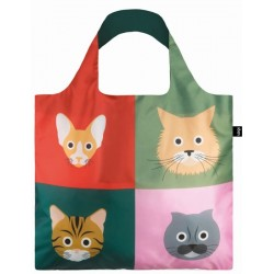 Opvouwbare Herbruikbare Tas Cats - LOQI