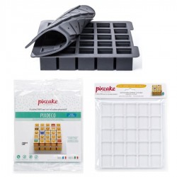 Pixcake Ma Première PixBox : Moule en Silicone + Supports + Décors Smiley  - Silikomart