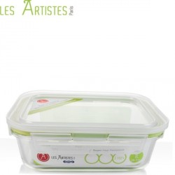 Boite de Conservation en Verre Rectangle 1040ml - Les Artistes