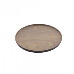 Rond Dienblad Bamboevezel Houtlook 20 cm  - Point Virgule
