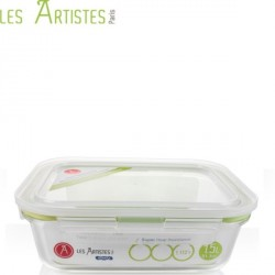 Boite de Conservation en Verre Rectangle 1520ml  - Les Artistes
