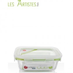 Boite de Conservation en Verre Rectangle 370ml  - Les Artistes