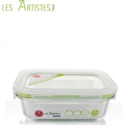 Boite de Conservation en Verre Rectangle 640ml  - Les Artistes