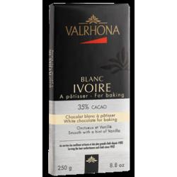 Chocolat Blanc Ivoire 35% Tablette 250 g - Valrhona