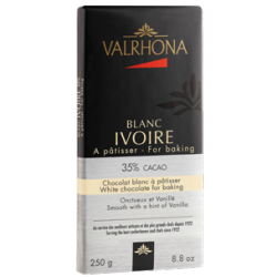 Witte Chocolade Ivoire Tablet 250 g - Valrhona