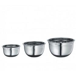 Set of 3 Non-slip Bowl with Lid - Kuchenprofi
