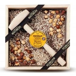 Melk Chocolade met Piemont Hazelnoot en Hamer 400 g - Comptoir de Mathilde
