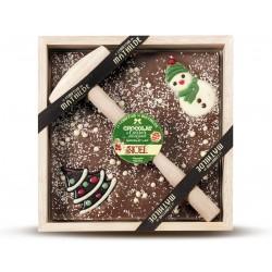 Melk Chocolade Sneeuwman met Hamer 400 g - Comptoir de Mathilde