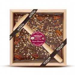 Chocolat à Casser Noir Brownies 400 g - Comptoir de Mathilde