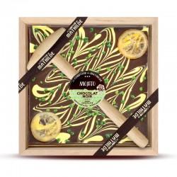 Pure Chocolade met Gekonfijte Sinaasappel en Hamer 400 g - Comptoir de Mathilde