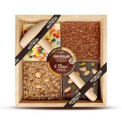 4 Choc' 3 Chocolats à Casser 4 x 100 g - Comptoir de Mathilde