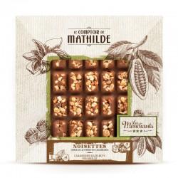 Mendiant Melkchocolade Gekarameliseerde Hazelnoten 240 g  - Comptoir de Mathilde
