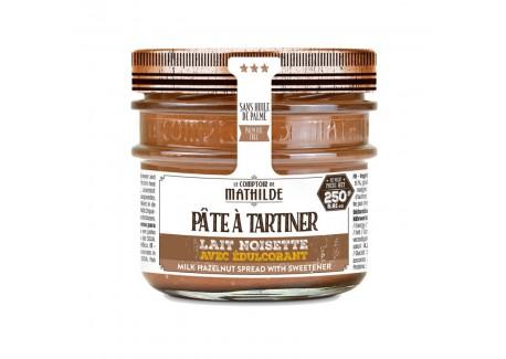 Pâte à Tartiner Chocolat Lait Noisette avec Édulcorant 250 g - Comptoir de Mathilde
