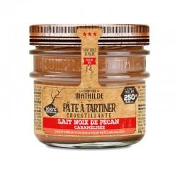 Pâte à Tartiner Croustillante Lait Noix de Pécan Caramélisée 250 g  - Comptoir de Mathilde