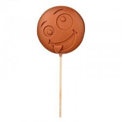 "Emoti'Choc Melkchocolade Lolly Smiley ""Crazy"" 40 g - Comptoir de Mathilde"