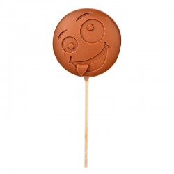 "Emoti'Choc Sucette Chocolat au Lait Smiley ""Dingue"" 40 g  - Comptoir de Mathilde"