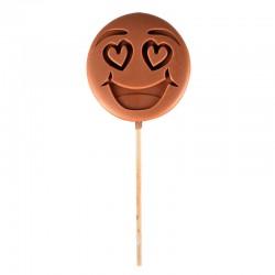 "Emoti'Choc Melkchocolade Lolly Smiley ""I Love You"" 40 g - Comptoir de Mathilde"