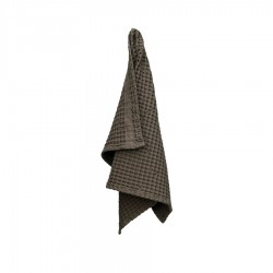 Handdoek van Biologisch Katoen Clay Licht Grijs - The Organic Company