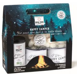 """Coffret Chocolat Chaud """"Happy Camper"""" avec 2 Tasses  - Quai Sud"""