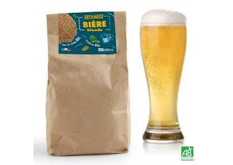 Recharge Malt Bio en Grains pour Coffret Brassage Bière Blonde 5 L  - Radis et Capucine