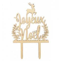 """Houten Kerst Cake Topper """"Joyeux Noël"""" - Scrapcooking"""