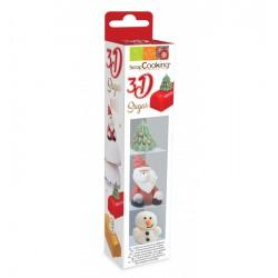 Zoete 3D Decoraties Kerstmis - Scrapcooking