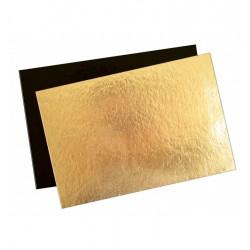Rechthoekige Taartkartons 20 x 30 cm Goud en Zwart 5 dlg - Scrapcooking