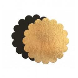 Ronde Taartkartons 24 cm Goud en Zwart 5 dlg - Scrapcooking