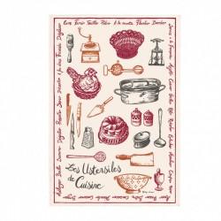"""Torchon """"Les Ustensiles de Cuisine"""""""