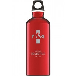 Aluminium Drinkfles Swiss Mountain Rood 0,6 l - SIGG