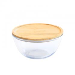 Glazen Bewaarkom met Bamboe Deksel 2,6 l - Pebbly