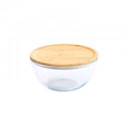 Glazen Bewaarkom met Bamboe Deksel 1,6 l