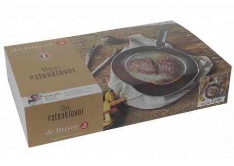Box Steak Lover Poêle en Acier, Pince - Poivrier  - De Buyer