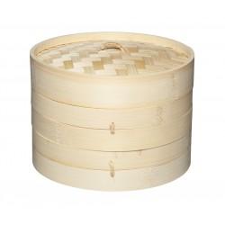 Panier à Vapeur en Bambou 2 étages 20 cm  - KitchenCraft