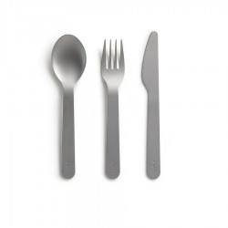 Set Couverts Inox Gris 16 cm 3 pcs  - Lékué