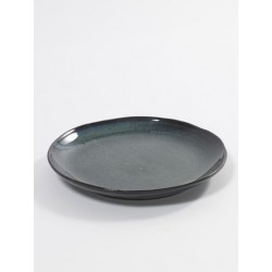 Aqua Dessertbord 22 cm Groen Spikkel - Serax