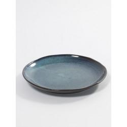 Aqua Dessertbord 22 cm Blauw Spikkel