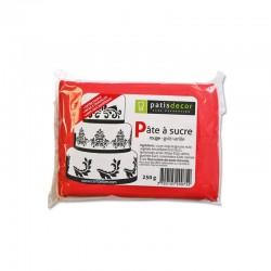 Pâte à Sucre Rouge 250 g  - Cerf Dellier