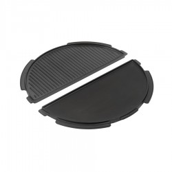 Half Cast Iron Plancha Griddle Large - Big Green Egg