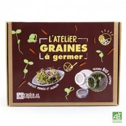 Coffret Atelier Graines à Germer Bio