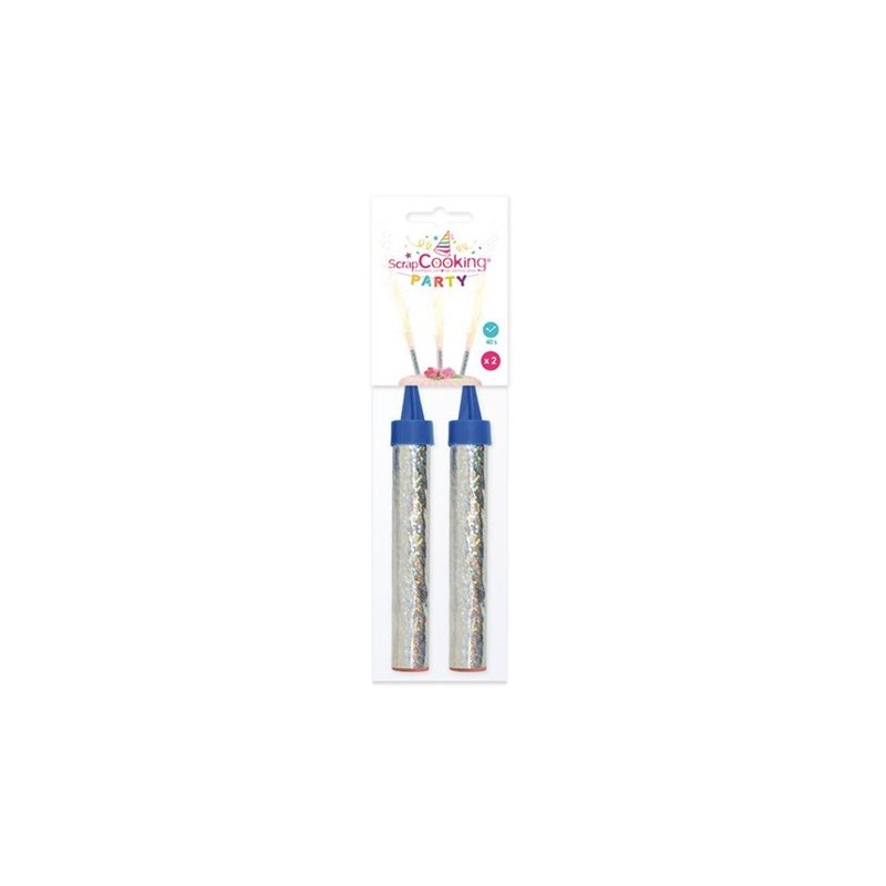 Scrapcooking bougies fontaine lumineuse 2 pcs les secrets du chef - Bougie fontaine lumineuse ...